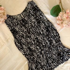Banana Republic Black and White Patterned Tank